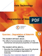 Degradation of Materials
