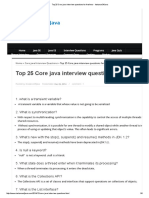 Top 25 Core Java Interview Questions for Freshers - InstanceOfJava