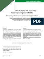 Del Proteoma Humano a La Medicina Transfucional Personalizada