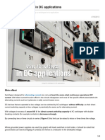 Using AC Switchgear in DC Applications