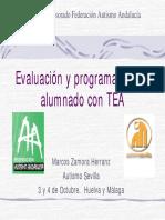 Evaluación y Programación en Alumnado Con TEA