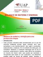 Balance de Materia y Energia - Semana 7-8