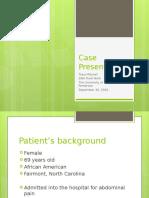 field work case presentation