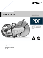 Stihl Ts 410 420 Owners Instruction Manual