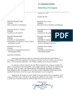 FBI Letter to Congress