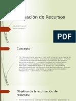 Estimación de Recursos Resumen