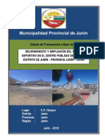 PIP Mejoramiento Campo Deportivo Huayre