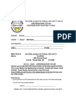 Oas 2010 Membership Forms