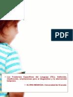 Los Trastornos Específicos Del Lenguaje TEL. Definición Clasificación Orientaciones Para El Diagnóstico y La Intervención Temprana.