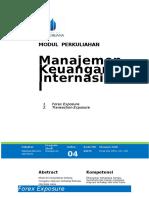 Modul 06 - Forex Exposure Transaction Exposure