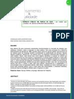 Emprego Público Em Tempos de Crise - Um Estudo Com Servidores de Carreira Na Receita Federal Do Brasil