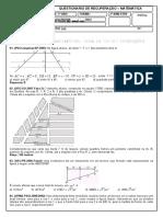 1º Ano - Teorema de Tales e Aplicações