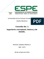 Ingeniería Conceptual, Basica y de Detalle