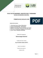 Proceso  de fermentacion - Chicha Jora