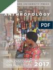 Anthropology 2017 Catalog