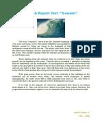 Report Text Tentang Tsunami