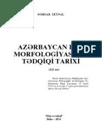 Az Dilinin Morfologiyasi Tedqiqati