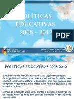 Guatemala Presentacion Politicas Educativas 2008-2012