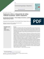 Exploración Clinica y Videoasistida Del Reflejo Vestibulo Oculo Motor Analisis Comparativo
