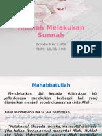 Hikmah Melakukan Sunnah