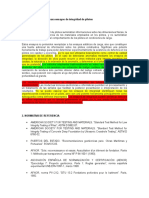 Sample Specification for Pile Testing (Spanish)