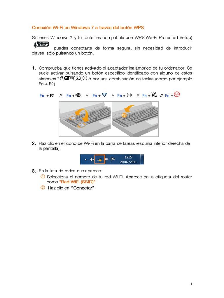 Configuracion Wifi Windows 7 Wps