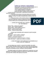 DEFUMAÇÕES DE LIMPEZA E DESCARREGO.doc