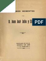 Últimos momentos de D. José Julio y Elizalde