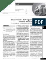 Procedimiento de Canje de Certificados Médicos Particulares Por El CITT