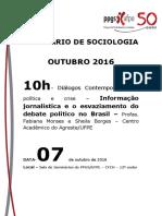 Seminário de Sociologia - Outubro_ Fabiana _Sheila