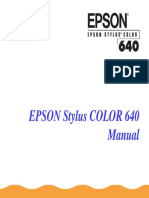 EPSON StylusColor640 UserManual