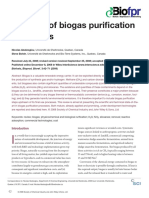 A Review of Biogas Purification Processes 2006