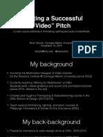 Staszel Video Workshop Nov2015