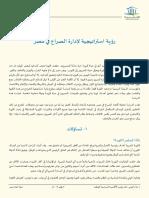 رؤية استراتيجية لإدارة الصراع في مصر