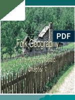 Cultural Geography. IX