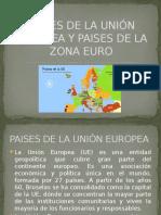 Paises de La Unión Europea y Paises De