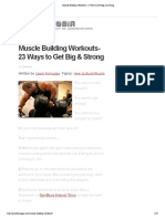Muscle Building Workouts- 23 Ways to Get Big and Strong