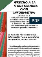 Derecho a La Autodeterminación Informativa