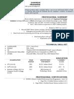 Shameek Pramanik CV