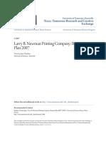 Larry B. Newman Printing Company- Business Plan 2007
