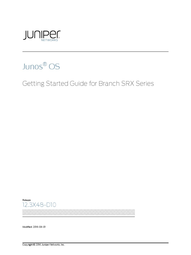 Getting Started Guide for Branch SRX Series | Gateway