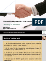 Claim Management for Life Insurance-Mr. Zain Ibrahim