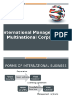 International Management and Multinational Corporations