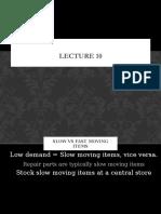 Lecture 10 (Component C.)