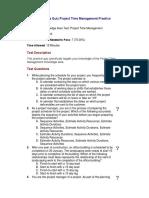 03 - Knowledge Area Quiz Project Time Management