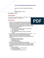 10 - Knowledge Area Quiz Project Stakeholder Management