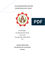 Laporan Praktikum Kimia Organik Kayu Nangka Mandiri