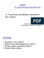 Traditional and Modern Symmetric Key Ciphers