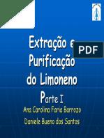 Extração Do Limoneno Do Óleo de Laranja LIC 2008