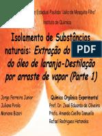 Extração Do Limoneno Do Óleo de Laranja LIC 2009